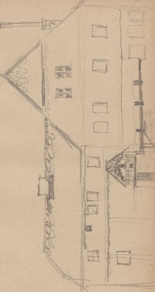 Gebäudeaufriss; WassermühleWassermuehleWernigerodeWassermühle in Wernigerode.
