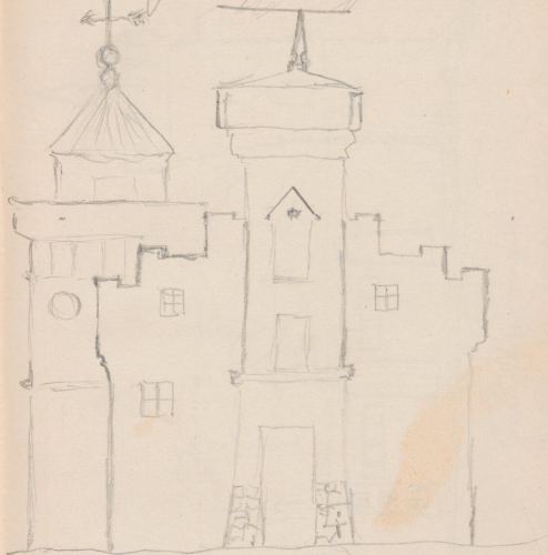 Gebäudeaufriss; SpeicherSpeicherGentzrode, Gentzrode. Speicher und WohnturmGentzrode, Speicher mit Wohnturm (Seitenfront)