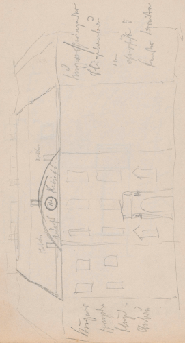 Gebäudeaufriss; Schloss Köpenick, Insel-SchlossSchlossKoepenickInsel-SchlossKöpenick (heute: Berlin-Köpenick, Ortsteil des Berliner Bezirkes Treptow-Köpenick), Coepenik, CoepenickSchloss Köpenick.