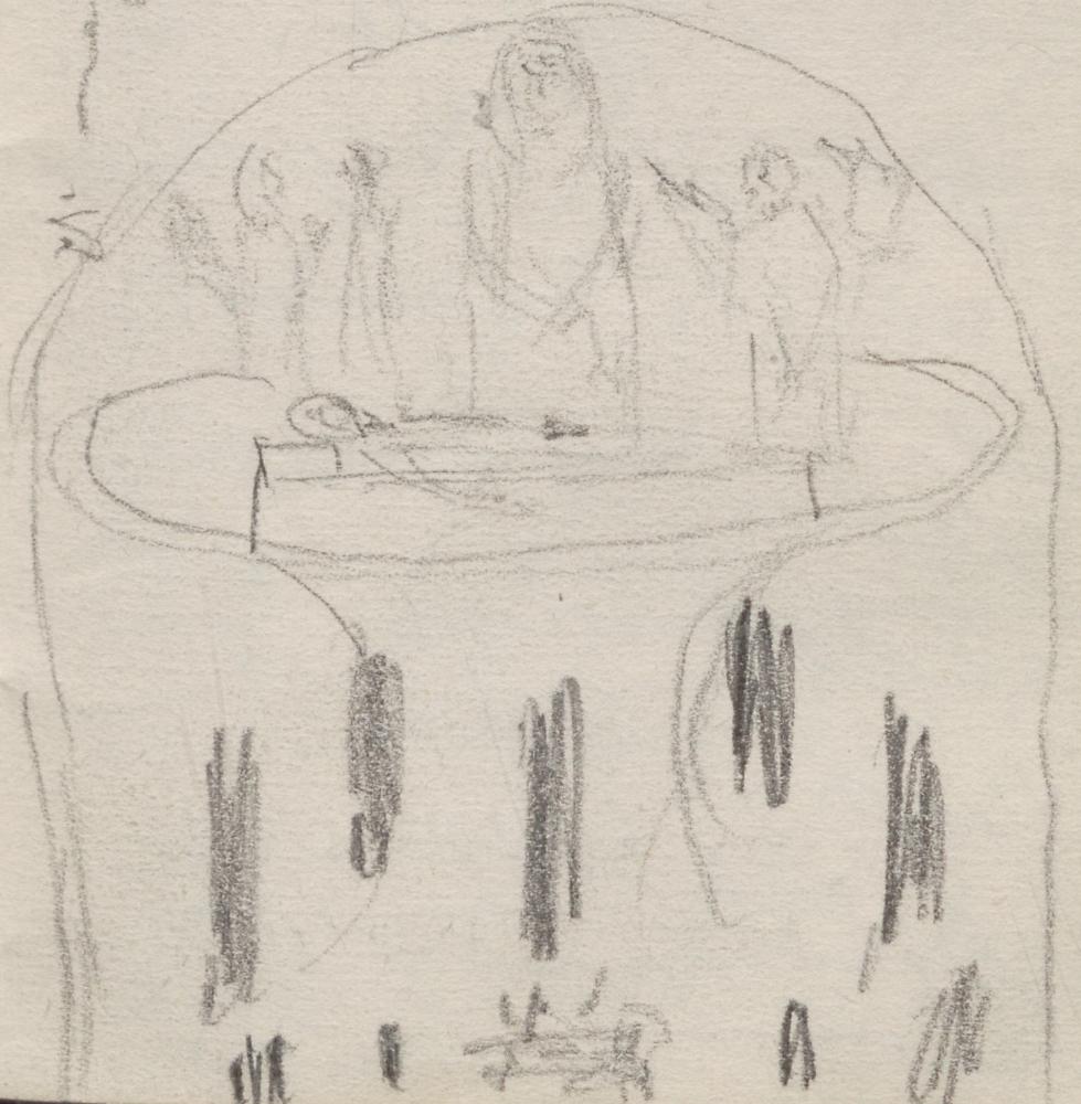 """Gemäldekomposition; Beweinung Christi und Schutzheilige von Bologna [Gemälde]BeweinungChristiundSchutzheiligevonBologna[Gemaelde]false15751642ital. MalerReniGuidoReni, GuidoRenis """"Madonna della Pietà""""."""