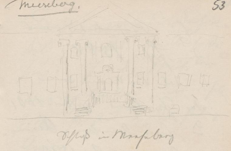 Gebäudeansicht; Schloss MesebergSchlossMesebergMeseberg (heute: Ortsteil der Stadt Gransee), MesebergkSchloss Meseberg.