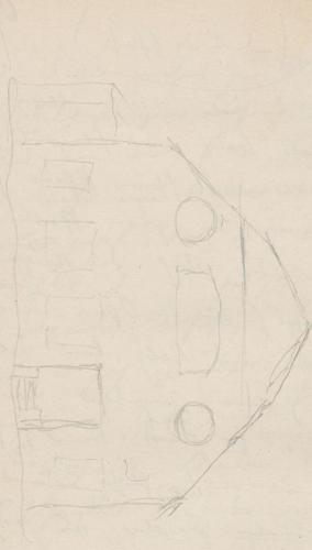 Gebäudeaufriss; Dampfmaschinenhaus des Maschinenmeisters FriedrichDampfmaschinenhausdesMaschinenmeistersFriedrichPfaueninsel, Pfauen-InselDampfmaschinenhaus auf der Pfaueninsel.
