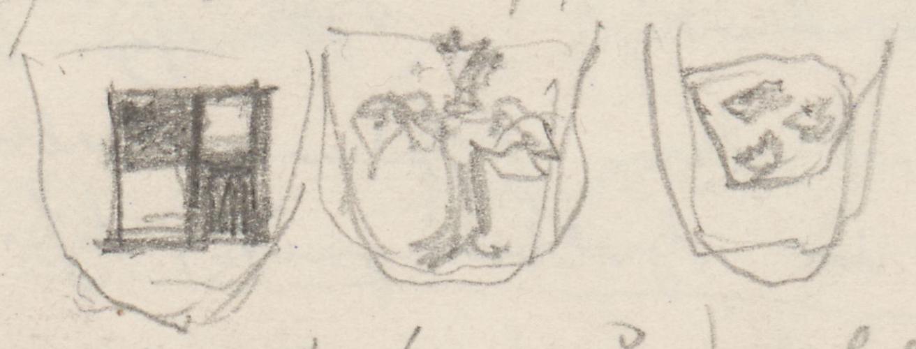 Wappen; Näheres nicht ermittelt.