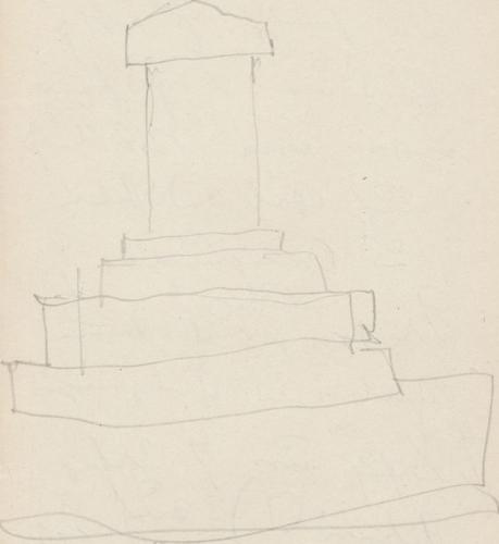 Vorderansicht; Denkmal Schlacht bei Zorndorf 1758, MonumentDenkmalSchlachtbeiZorndorf1758MonumentZorndorf (heute: poln. Sarbinowo)Denkmal der Schlacht bei Zorndorf.