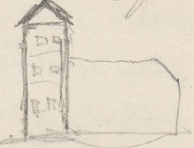Gebäudeaufriss; Kirche (heute: poln. Kościół Najświętszego Serca Pana Jezusa)Kirche(heute:polnAAlt Rüdnitz (heute: poln. Stara Rudnica)Kirche Alt Rüdnitz.
