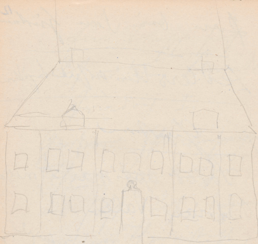 Gebäudeaufriss; Schloss (1964 abgerissen)Schloss(1964abgerissen)Buch (heute: Berlin-Buch, Ortsteil des Berliner Bezirkes Pankow)Schloss zu Buch.