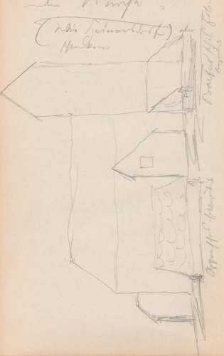 Gebäudeaufriss; KircheKircheKossenblatt (heute: Ortsteil der Gemeinde Tauche), CossenblattKirche Kossenblatt.