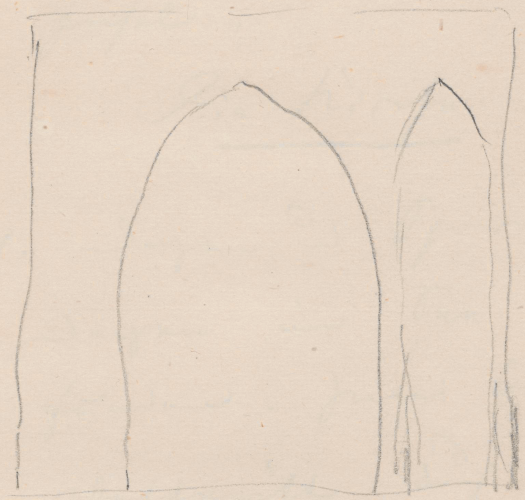 Gebäudeaufriss; KapellenruineKapellenruineBlankensee (heute: Ortsteil von Trebbin)Kapellenruine in Blankensee (heute: Ortsteil von Trebbin)Blankensee(heute:OrtsteilvonTrebbin)Blankensee  (Ausschnitt: Portal).