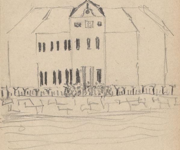 Gebäudeaufriss; Schloss Plaue, Schloß PlaueSchlossPlaueSchloßPlauePlaue (Havel) (heute: eingemeindet in Brandenburg an der Havel), Rittergut Plaue, PlauerhofSchloss Plaue.