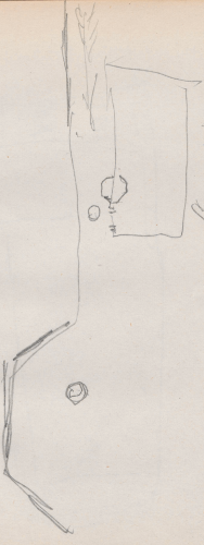 Umgebungsplan; Festung, graugelbe Schloss, Küstriner SchloßFestunggraugelbeSchlossKuestrinerSchloßKüstrin (heute: poln. Kostrzyn nad Odrą), Cystrin, die alte neumärkische HauptstadtFestung Küstrin.