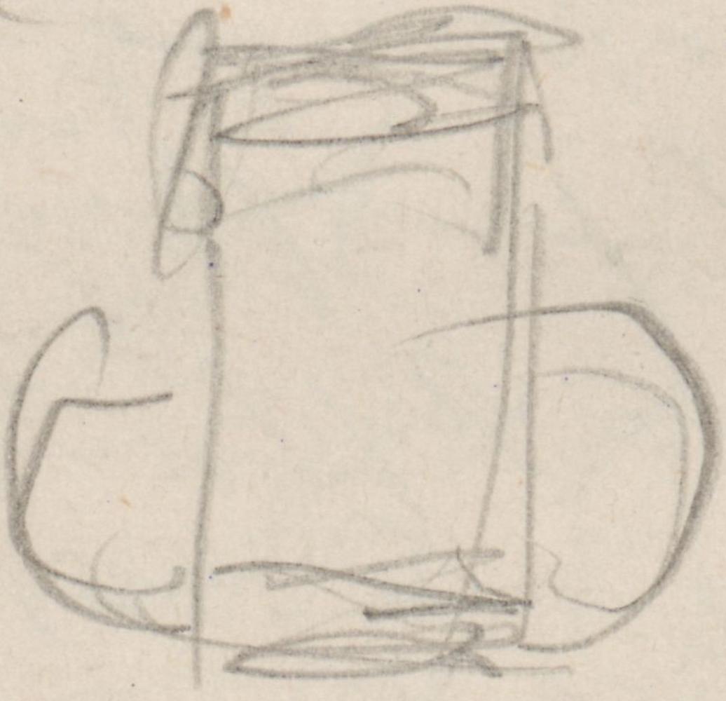 Detailansicht eines Bierkrugs.