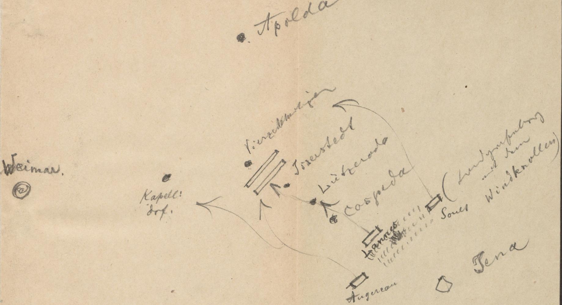 Lageplan des Schlachtfelds von SchlachtfeldSchlachtfeldJenaJena.