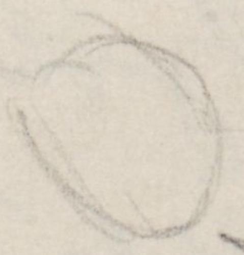 Gemäldeausschnitt; Christuskopf [Skizze]Christuskopf[Skizze]falseAnonym/nicht ermitteltChristuskopf auf einer Skizze zu Da Vincis Abendmahlsbild.