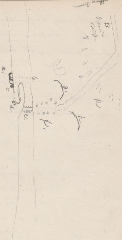 Lageplan des Schlachtfelds; MissundeMissundeMissunde.