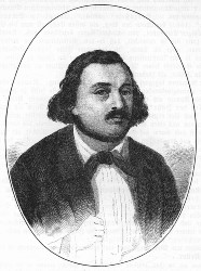 Berthold Auerbach (Stich nach Friedrich Pecht, um 1847)