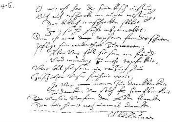 Faksimile des Originalmanuskripts, Vers 17-30.