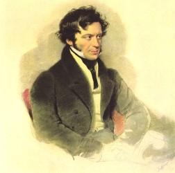Franz Grillparzer (Aquarell von Moritz Michael Daffinger, 1827)