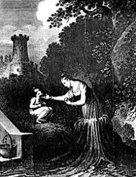 Die Brunnennixe. (Johann Andreas Christian Löhr: Das Buch der Mæhrchen)