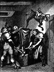 Der Schmidt, der Tod, und der Teufel. (Johann Andreas Christian Löhr: Das Buch der Mæhrchen)