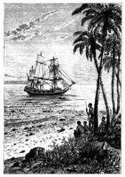 Man ankerte auf der Rhede von Matavaï. (S. 207.)