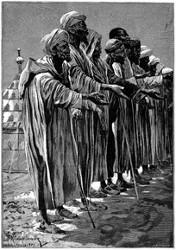 Marokkanische Bettler.