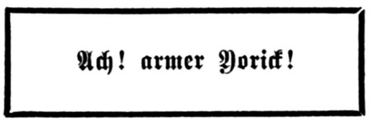 Sterne, Laurence: [Kein Titel]