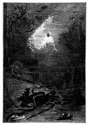 Er schwebte kerzengerade hinaus. (S. 266.)