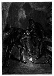 Onkel Prudent zündete die Lunte an. (S. 182.)