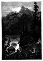 Hohe, von dichten, dunklen Wäldern bedeckte Berge. (S. 261).