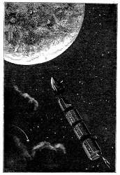 Projectil-Verkehr mit dem Mond. (S. 128.)