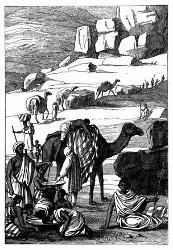 Eine Sklaven-Kafila. [Facsimile. Alter Kupferstich.]
