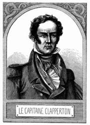 Porträt von Clapperton. [Facsimile. Alter Kupferstich.]