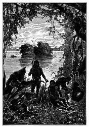 An der Mündung dieses Flusses zeigten sich einige Indianer. (S. 98.)
