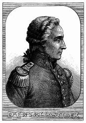 Porträt von d'Entrecasteaux. [Facsimile. Alter Kupferstich.] (S. 340.)