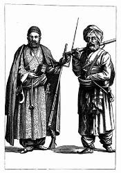 Afghanische Kostüme. [Facsimile. Alter Kupferstich.]