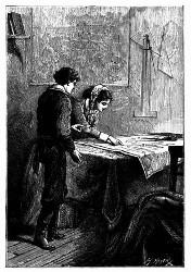Mrs. Weldon hatte sich über die Karte gebeugt. (S. 95.)