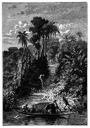 Das Dorf Iquitos liegt nahe dem linken Ufer. (S. 23.)