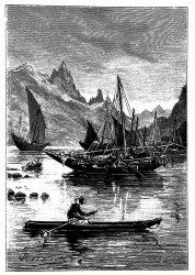 Küste und Boote des Rothen Meeres. (S. 34.)