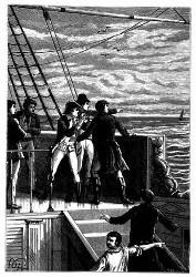 Am fernen Horizont tauchte ein Segel auf. (S. 386.)
