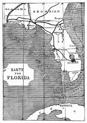 Karte von Florida. (S. 76.)