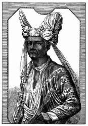 König der Insel Timor. [Facsimile. Alter Kupferstich.]