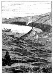 Die Bai Française in den Malouinen. [Facsimile. Alter Kupferstich.] (S. 306.)