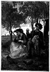 Das junge Mädchen ergriff die Angelruthe. (S. 37.)
