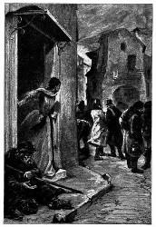 Das junge Mädchen blieb auf der Schwelle der Haustür stehen. (S. 135.)
