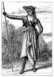 Javanischer Krieger. [Facsimile. Alter Kupferstich.]
