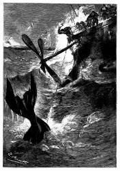 Der Aeronef wurde zur Wasserfläche herabgezerrt. (S. 97.)