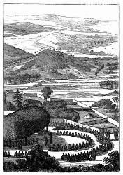 Ein Fest zu Ehren d'Entrecasteaux'. [Facsimile. Alter Kupferstich.] (S. 354.)