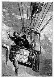 Er entlastete den Ballon um zwei Säcke. (S. 142.)