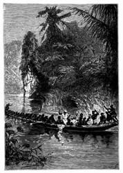 Das Canot war über fünfzig Fuß lang. (S. 182.)