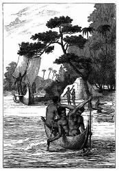 Piroguen der Admiralitäts-Inseln. [Facsimile. Alter Kupferstich.]